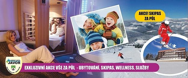 SKI&STAY! 4 DNY s polopenzí a skipasem, wellness za 50% v HOTELU JAVOR***