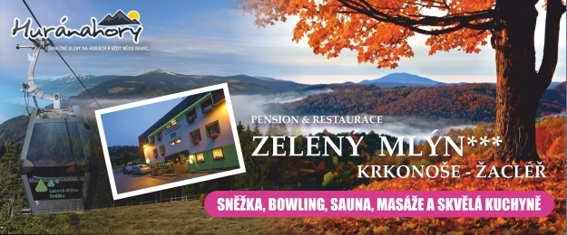 Relax v Krkonoších. 4 nebo 6 dní s polopenzí, saunou a bowlingem.