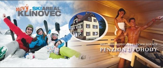 3 až 6 dní lyžování s polopenzí a wellness přímo na Klínovci! Sleva na skipas, půjčovnu lyží, lyžařskou školu a bohaté wellness služby. Navíc dítě do 6 let skipas zdarma. Využijte této lákavé nabídky a obdarujte své blízké skvělým dárkem k Vánocům.
