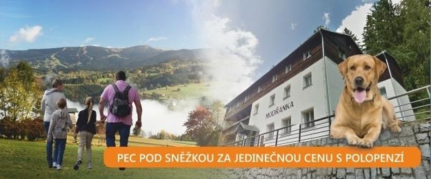 Až 7 dní s polopenzí v krásné Peci pod Sněžkou v penzionu Modřanka. Odpočiňte si v krásné přírodě a vydejte se s námi po krásách našich nejoblíbenějších hor Krkonoš.