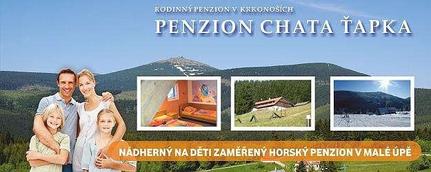 Letní dovolená na 8 dní s polopenzí v chatě Ťapka v Krkonoších.