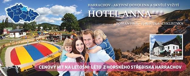Prázdniny v Harrachově na 3-4 dny se snídaní v hotelu ANNA***