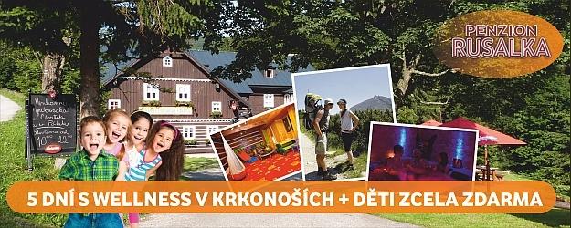 5 DNÍ S WELLNESS v nádherném ***penzionu RUSALKA s polopenzí v Krkonoších